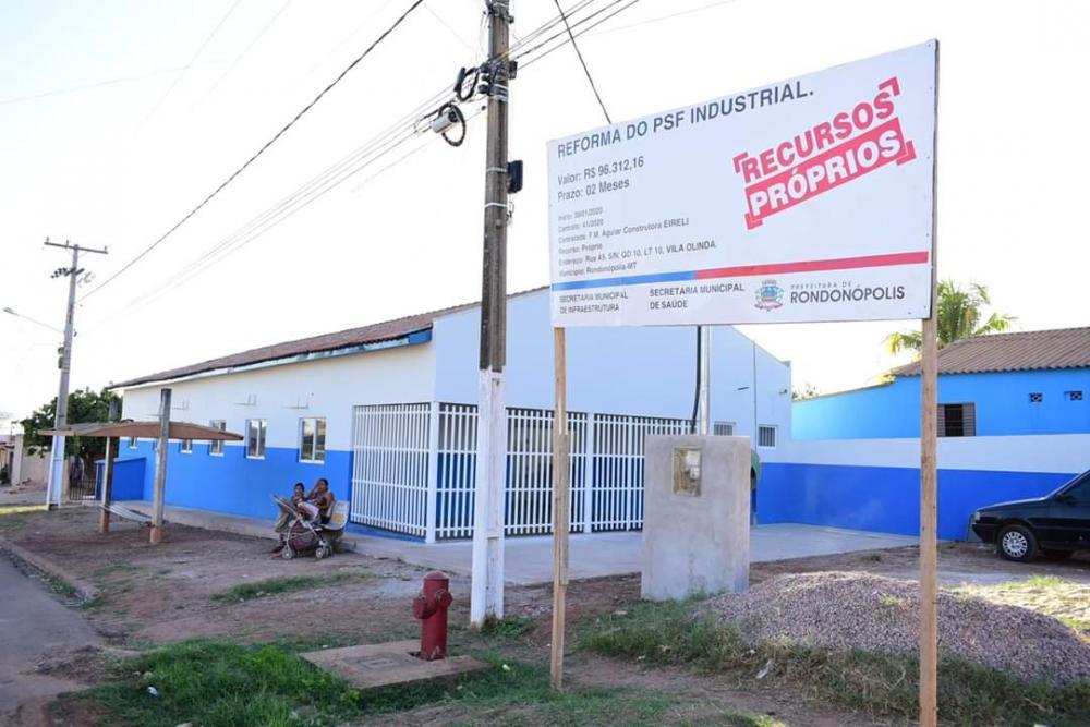 Reforma do PSF Industrial está sendo concluída