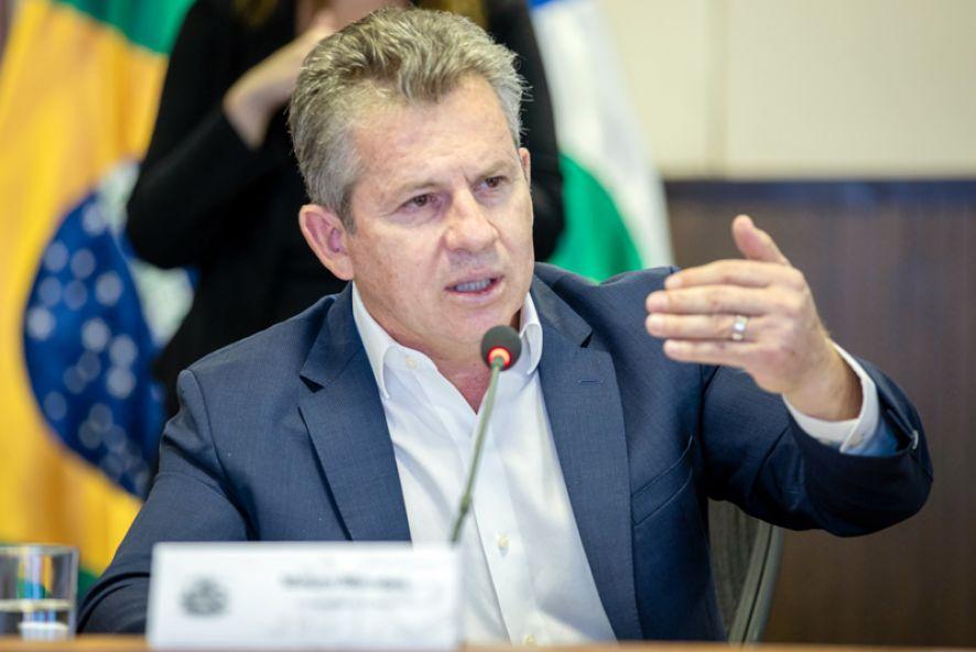 O governador Mauro Mendes: calendário de pegamento dos salários