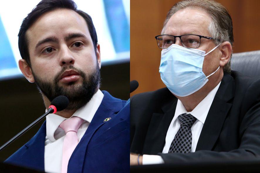 O deputado Ulysses Moraes e o secretário Gilberto Figueiredo: bate-boca