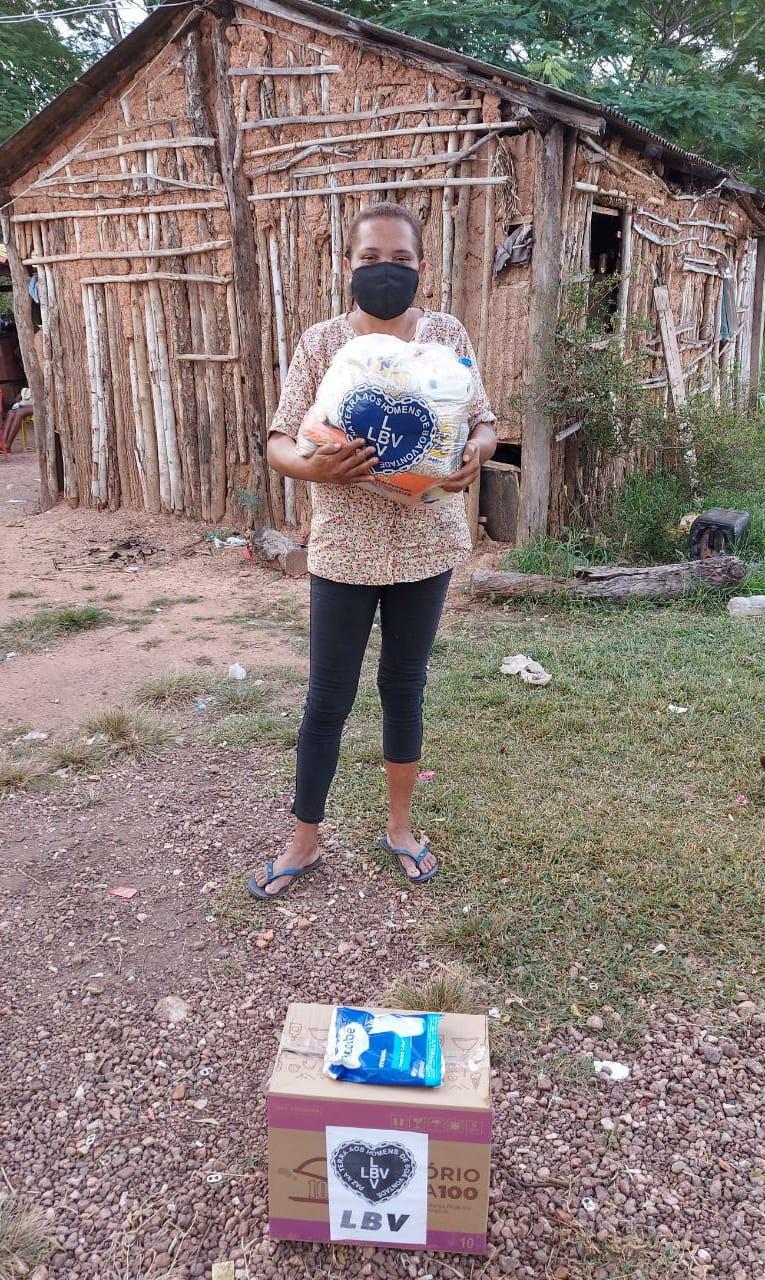 Várzea Grande, MT – SOS Calamidades da LBV leva esperança a famílias em Vulnerabilidade social no Grande Cristo Rei