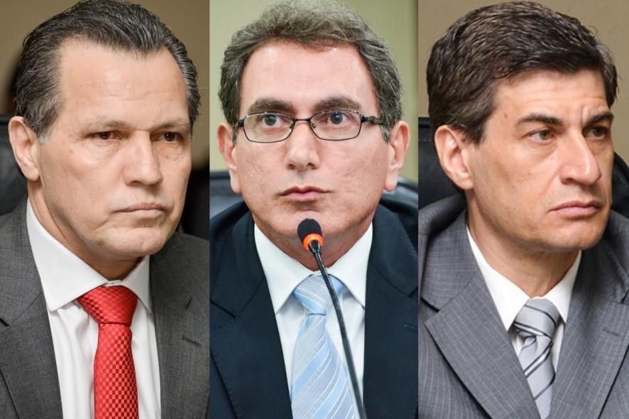 O ex-governador Silval Barbosa e os ex-secretários Pedro Nadaf e Marcel de Cursi