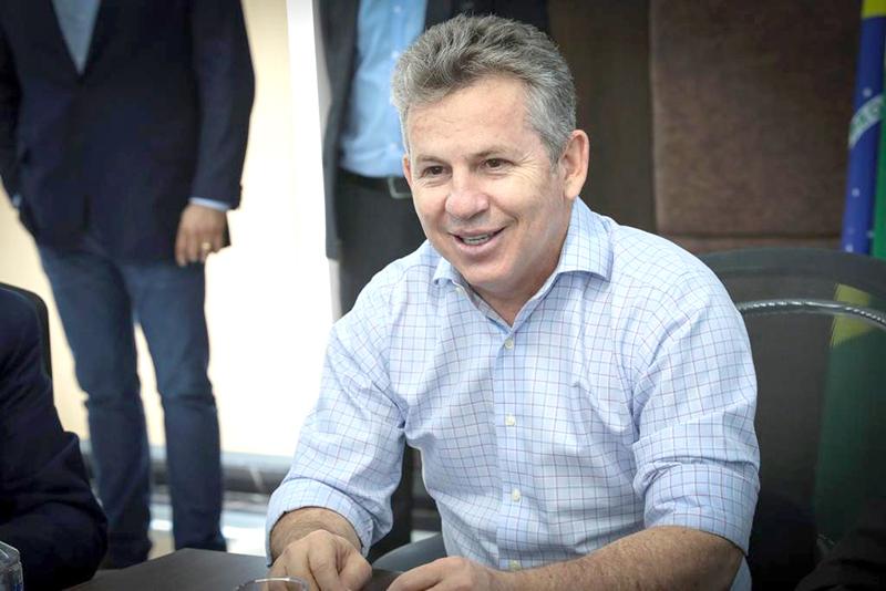 Mauro Mendes participou da reunião de forma virtual (Foto – Mayke Toscano)